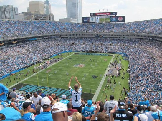 The Bank of America Stadium: The view from our seat