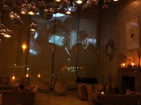the g Hotel & Spa Galway: Black & white movies shown at night