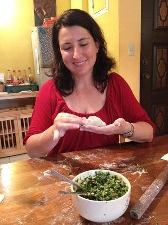 Jodie's Kitchen Cooking Class: making the dumplings