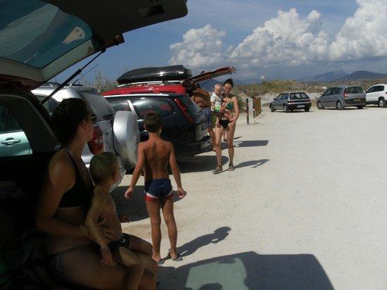 Camping La Presqu'ile de Giens: per la spiaggia delle saline