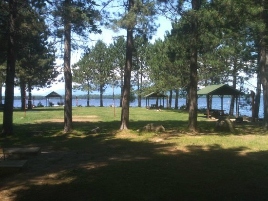 Twin Pine Camps at New England Outdoor Center: NEOC grounds; view from Little Mud
