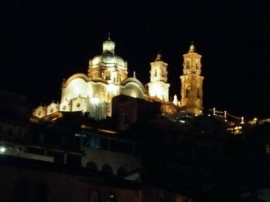 Hostal Joan Sebastian : Vista nocturna desde la posada