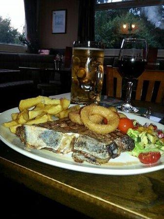 Grey Walls Restaurant : 20 oz t bone steak