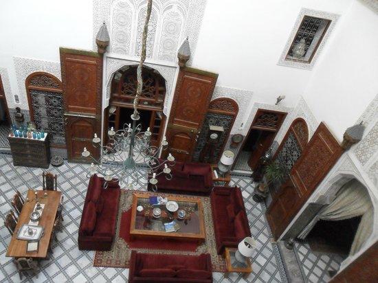 Riad Damia central reception area