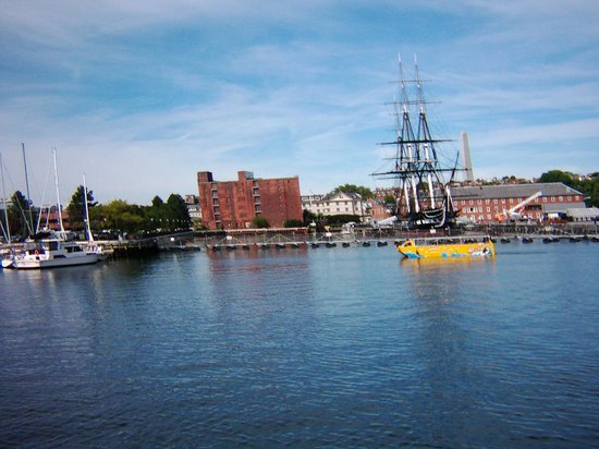 Boston's Best Cruises: USS Constitution with Duck tour in foreground
