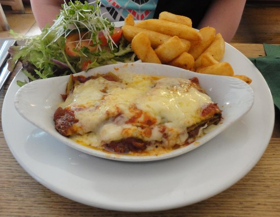 Rose Tree Restaurant: The colourful lasagne