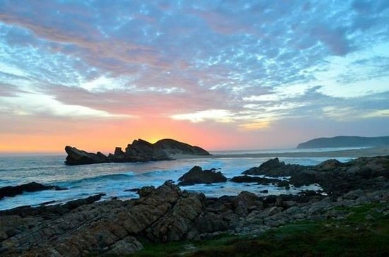 Robberg Nature Reserve: Sunset-Over-Sea (view from chalet)