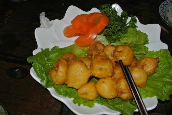 Pure Lotus Vegetarian Restaurant: Beignets de Banane