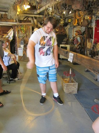Fort Hays Old West Town and Dinner Show : Learning rope tricks