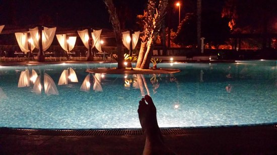 Occidental Isla Cristina: relaxin cafe con leche in terraza piscina :)