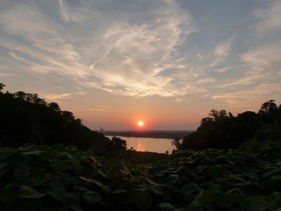 Hotel Vue : Blick vom Hotel auf den Mississippi