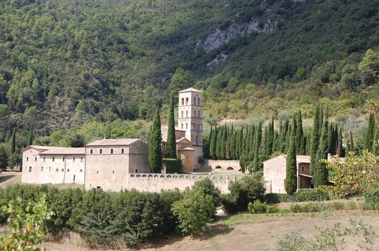 Abbazia San Pietro in Valle: View walking in to hotel