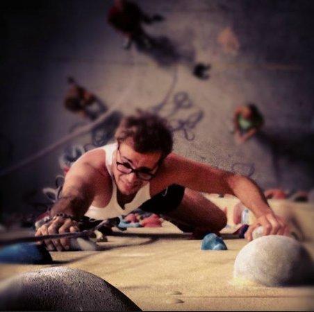 Climbat amman: me climbing at climbat