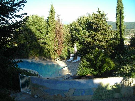 Le Mas du Cadranier : la piscine bien paysagée