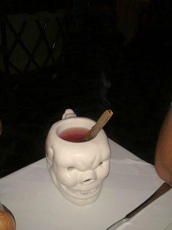 Trader Vic's in InterContinental Hotel: skull hot drink