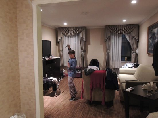 Hotel Stanford : Esta foto já dá pra ter uma idéia do tamanho do apartamento...