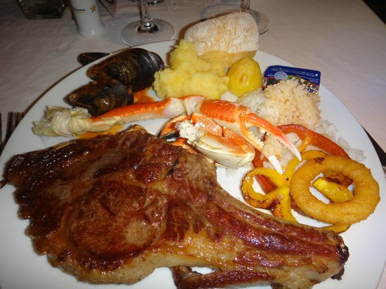 Iberostar Grand Hotel Bavaro: Typical lunch from the buffet for us