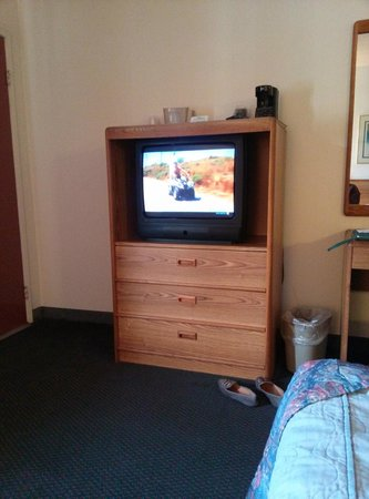Campus Inn: Old TV with no channels