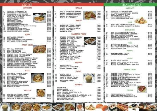 Ozzano dell'Emilia, Italy: menu da asporto