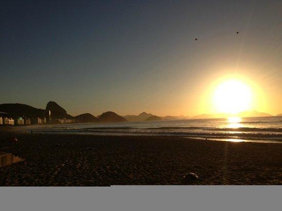 Hotel Sesc Copacabana: amanhecer em copacabana