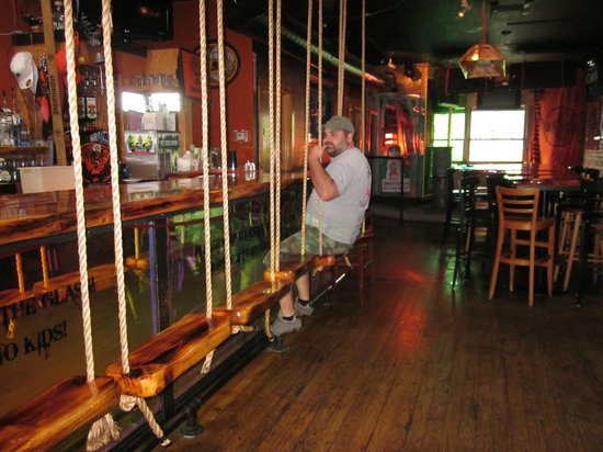 Upstairs bar, Papa Lou's