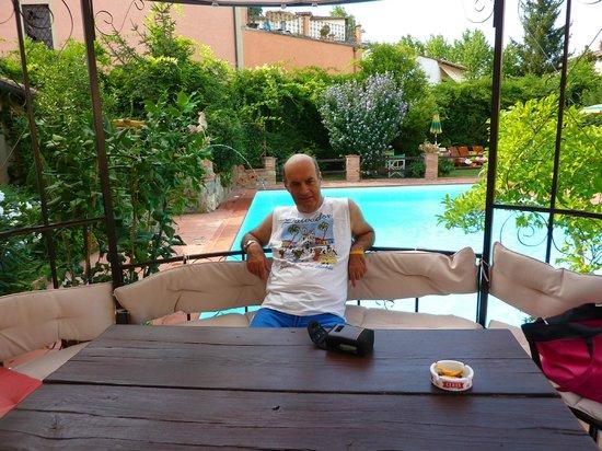 Albergo del Chianti: giardino e piscina