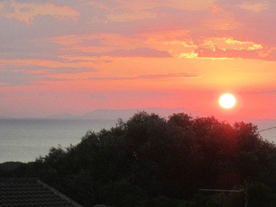 Le Onde Residence: Vista terrazza (tramonto)