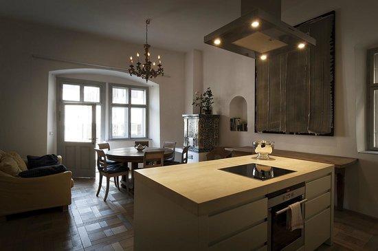 Residence Fink: Wohnküche in der Wohnung für 8 Personen