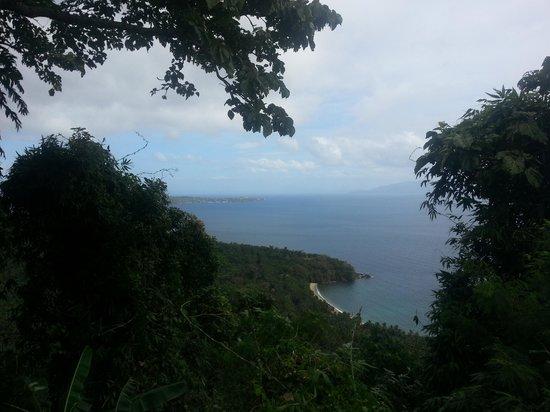 Sabang: view going to tamaraw falls