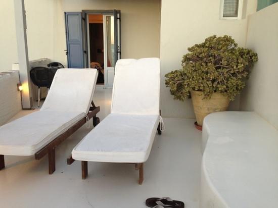 Iria Beach Art Hotel: roof