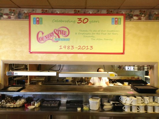 30th Anniversary Banner At The Counter Picture Of