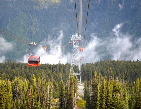 Pan Pacific Whistler Mountainside: Peak2Peak Gondola. Entrance is close to Pan Pacific!