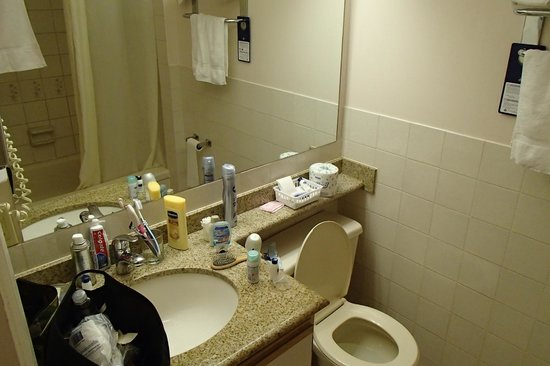 BEST WESTERN Capilano Inn & Suites: Kleine badkamer