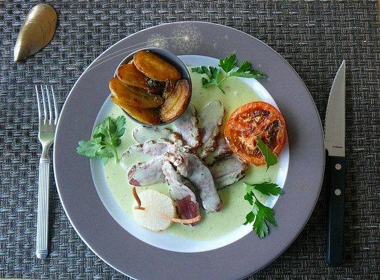 Hotel Restaurant Acadie Saint Victor : Magret de canard