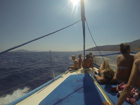 Náxos, Griekenland: on the boat
