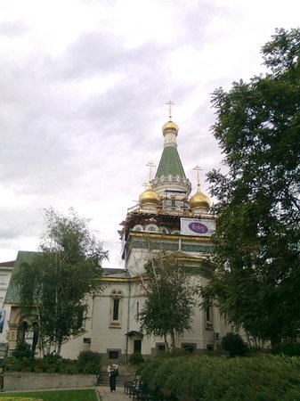 Saint Nikolas Russian Church (Tsurkva Sveta Nikolai): Renovation work, September 2013