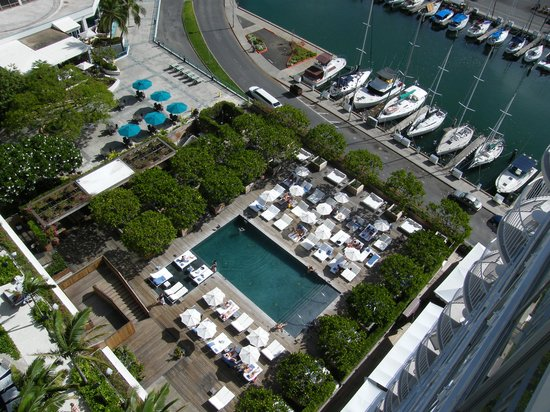 The Modern Honolulu: View looking down from the room, 15th floor