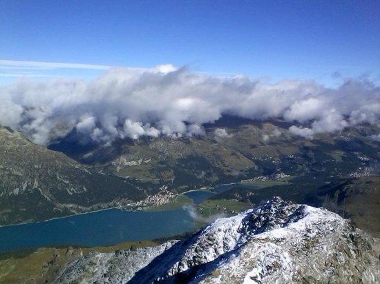 Mount Corvatsch: ein Blick ins Tal lohnt