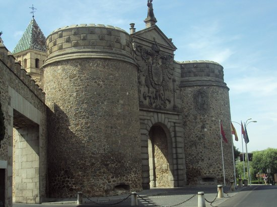 The gate. - Picture of Puerta de Bisagra, Toledo - TripAdvisor