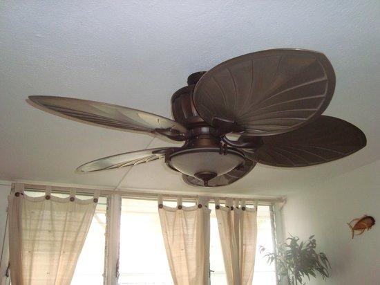 Makaha Beach Cabanas Ceiling Fan In Living Room