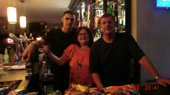 Cheers Sports & Food Bar: jamie,donna and andy