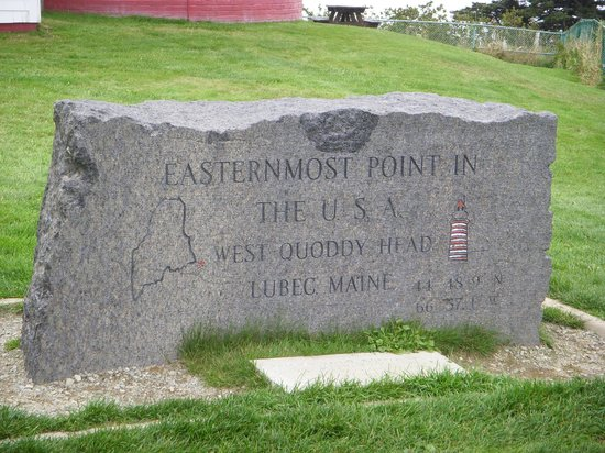 Eastland Motel: Marker at the Quoddy Lighthouse