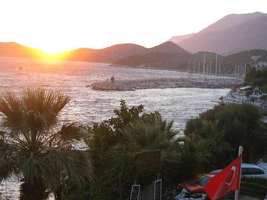 Aqua Princess Hotel: Sunset in Kas