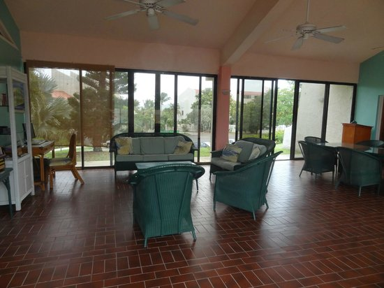 Sugar Beach Condo Resort: lobby area by the pool