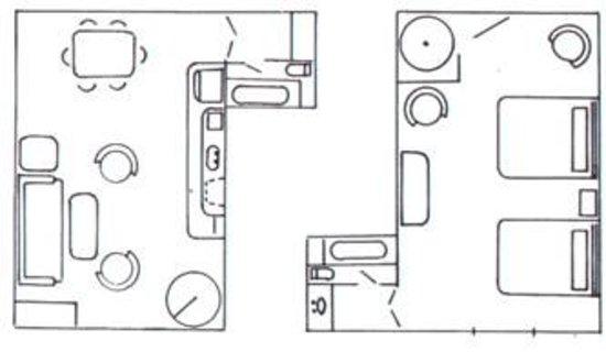 Four Seasons at Beech: One-Bedroom Suite Floor Plan