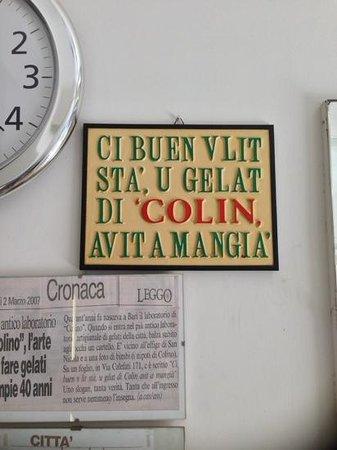 gelateria Colino: mitica targa