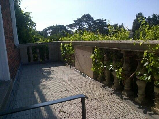 Anstey Hall: one end of balcony