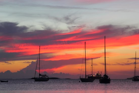 Virgin Islands Campground: Sunset at honeymoon beach, Water Island
