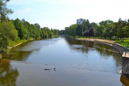 Guelph, Canada: View of the Speed River running through the park