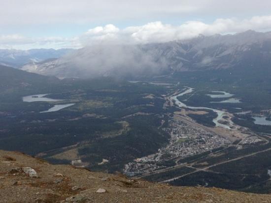 Jasper SkyTram : Town of Jasper from Whistlers